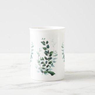 Just Leaves Arty Botanical Bone China Mug