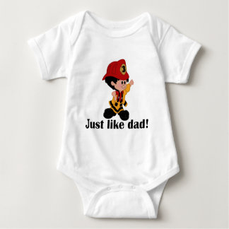 Just like Fireman Dad Baby Bodysuit