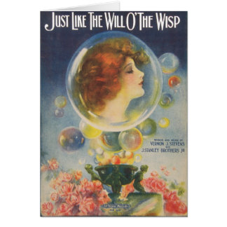 Just Like the Will O'The Wisp Greeting Cards