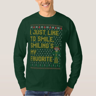 Just Like To Smilings My Favorite Ugly Christmas S T-Shirt