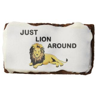 JUST LION AROUND CHOCOLATE BROWNIE