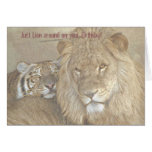 Just Lion around on your Birthday? Greeting Card