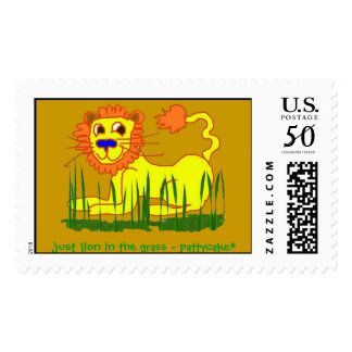 just lion in the grass - pattycake* postage