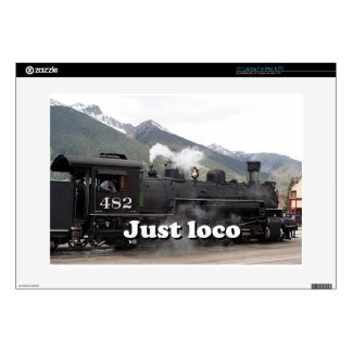 Just loco: steam engine Colorado, USA 2 Decals For Laptops