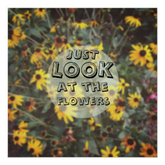 Just Look At The Flowers Funny Geeky Poster
