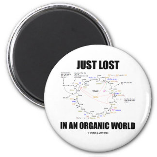 Just Lost In An Organic World (Krebs Cycle Humor) Magnets