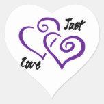 Just Love - Button & Magnets Heart Sticker