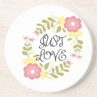 Just Love Floral Drink Coaster