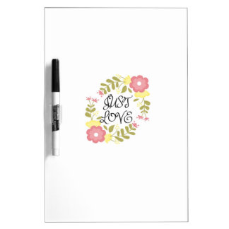Just Love Floral Dry-Erase Board