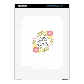 Just Love Floral Skin For iPad 3