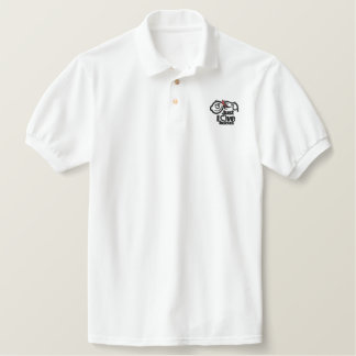 Just Love Rescue Dog Embroidered Polo Shirt