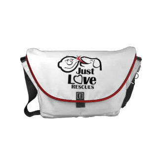 Just Love Rescues Dog Small Messenger Bag