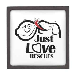 Just Love Rescues Dog Trinket Gift Box