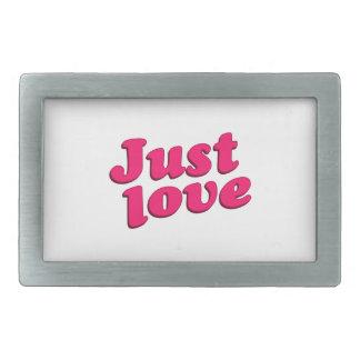 Just Love Text Typographic Quote Rectangular Belt Buckle