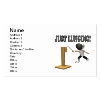 Just Lunging Business Card