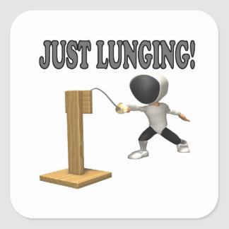 Just Lunging Square Sticker