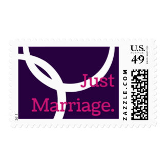 Just Marriage postage stamps