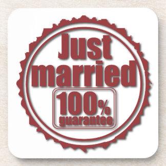 Just Married 100% Guarantee Coaster
