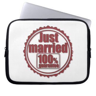 Just Married 100% Guarantee Laptop Sleeve