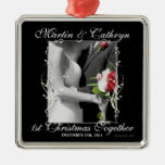 Just Married 1st Christmas Custom Year Ornaments
