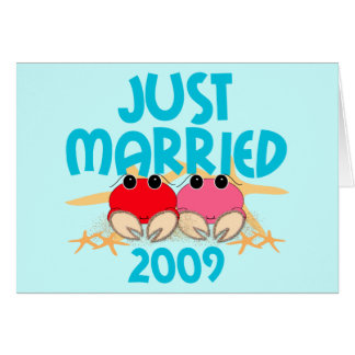 Just Married 2009 Card