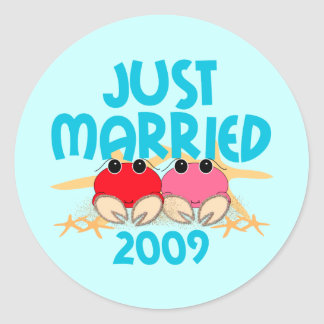Just Married 2009 Classic Round Sticker