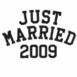 Just Married 2009 Embroidered Shirt