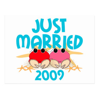 Just Married 2009 Postcard