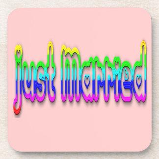 Just Married 2.0 Beverage Coaster