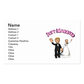 Just Married 2 Business Card Template