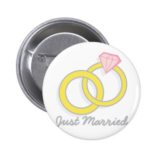 Just Married 2 Inch Round Button
