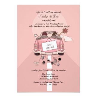 "Just Married 2 Post Wedding Brunch Invitation 5"" X 7"" Invitation Card"