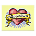 Just Married 4.25x5.5 Paper Invitation Card