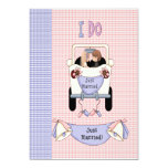"""Just Married 5"""" X 7"""" Invitation Card"""