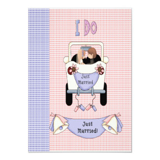 Just Married 5x7 Paper Invitation Card