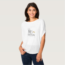 JUST MARRIED Add Name, Date The New Mrs Wedding T-Shirt
