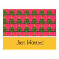 Just married address notice card postcard