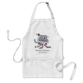 Just Married Adult Apron