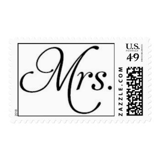 Just Married and Proud of It! Mrs. Stamp