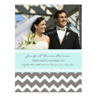 Just Married Announcement Photo Postcards Grey