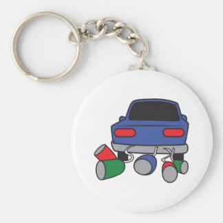 JUST MARRIED AUTOMOBILE KEY CHAIN