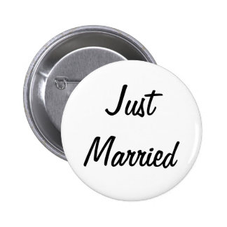 Just Married Badge Pin