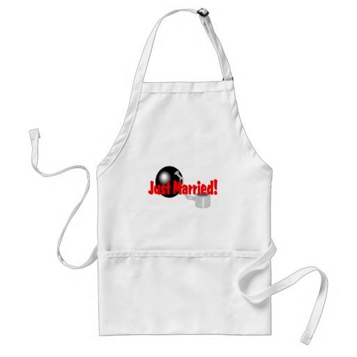 Just Married Ball and Chain Adult Apron