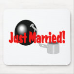 Just Married (Ball and Chain) Mouse Pad