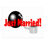 Just Married (Ball and Chain) Postcard