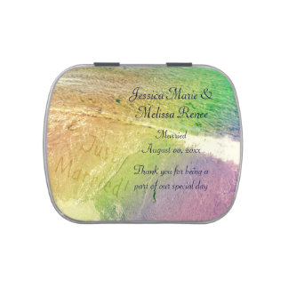 Just Married Beach Jelly Belly Tin