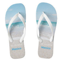 Just Married Beach Sandals