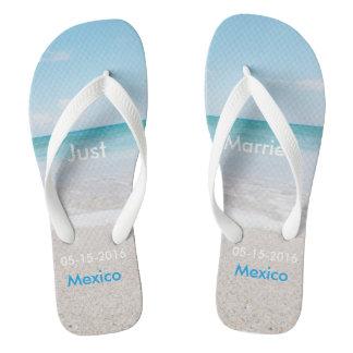 Just Married Beach Sandals Flip Flops