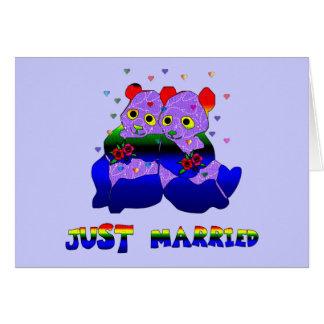 Just Married Bears Card
