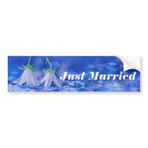 """Just Married"" Beautiful Wedding Bumper Sticker"